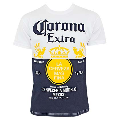 Corona Extra Label Design Men's White TShirt