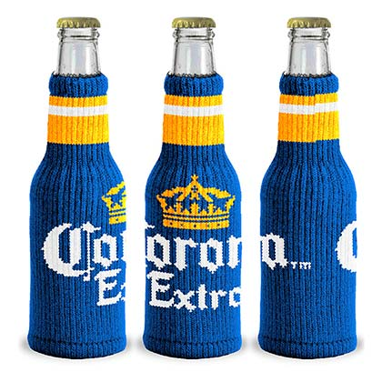 Corona Beer Knitted Bottle Koozie