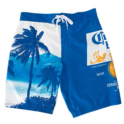 Corona Extra Blue Palm Tree Board Shorts