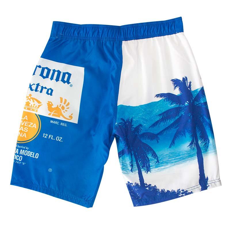 0cd1f63fcb Corona Extra Men's Blue Palms Board Shorts