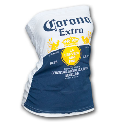 Corona Extra Label Design Juniors Graphic Tube Top