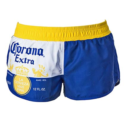 Corona Extra Label Women's Blue Swimwear Board Shorts