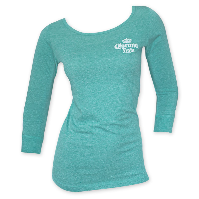 Light Logo Women's Teal Light Weight Long Sleeve Shirt