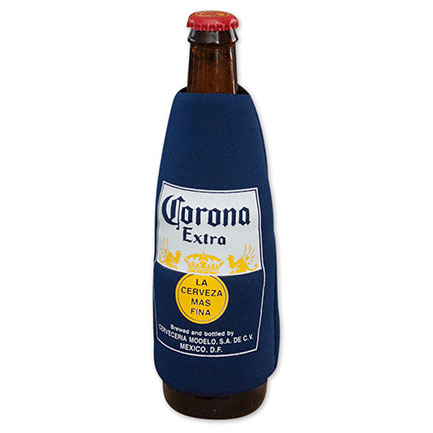 Corona Beer Navy Blue Bottle Koozie