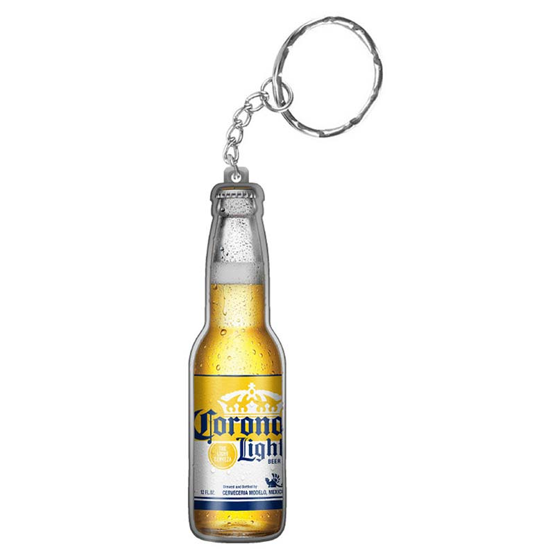 corona light bottle shaped keychain opener. Black Bedroom Furniture Sets. Home Design Ideas