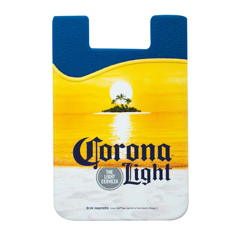Corona Light Beer Cellphone Rubber Sticky Mount Wallet