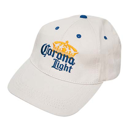 Corona Light Beige Logo Hat