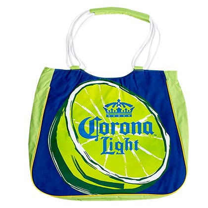 Corona Light Insulated Lime Tote Bag