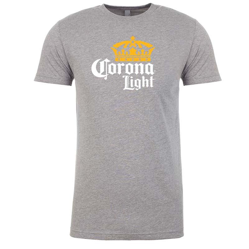 Corona Light Logo Men's Grey Tee Shirt