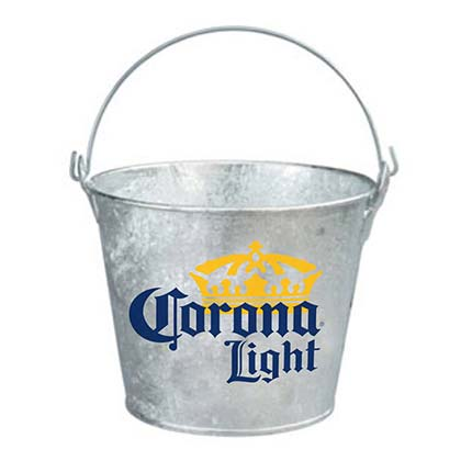Corona Light Metal Ice Bucket