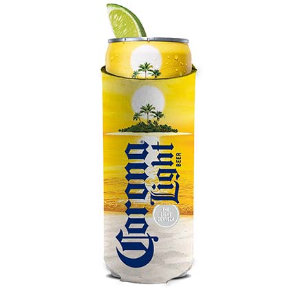 Corona Light Beach Scene 12 Ounce Slim Can Cooler