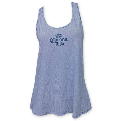 Corona Light Women's Light Blue Racerback Tank Top