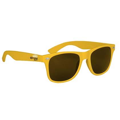 Corona Light Yellow Wayfarer Beer Logo Sunglasses