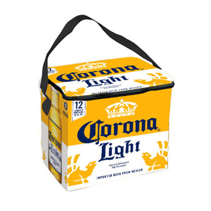 Corona Light Yellow And White 12 Bottle Soft Cooler