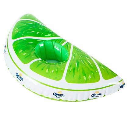 Corona Lime Wedge Inflatable Floating Can Holder