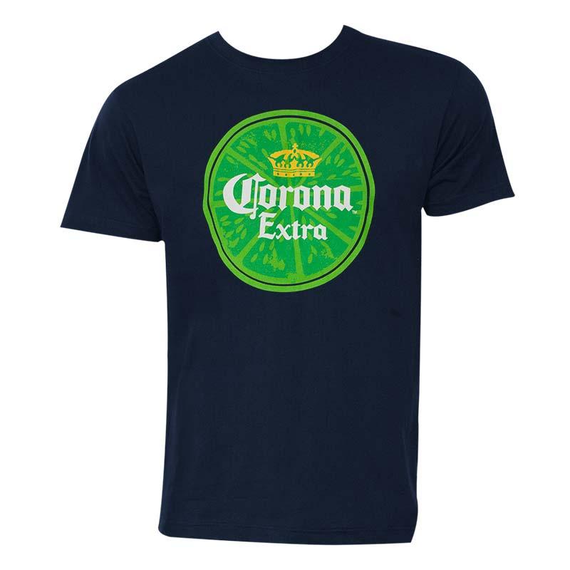 Corona Extra Men's Navy Blue T-Shirt