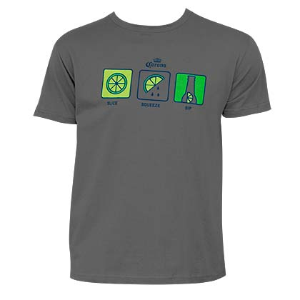Corona Lime Men's Charcoal Ritual T-Shirt