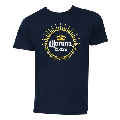 Corona Extra Men's Navy Blue T-Shirt