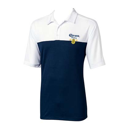 Men's Corona Beer Blue And White Polo Shirt