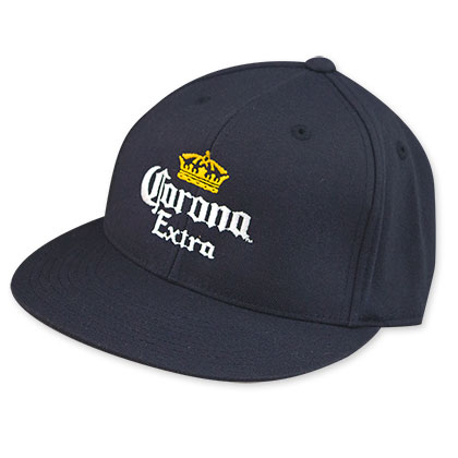 Corona Extra Crown Logo Flat Billed Hat