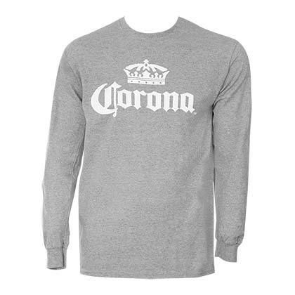 Corona Crown Logo Grey Long Sleeve Shirt