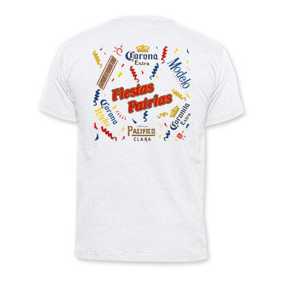 Corona Extra Fiestas Patrias White T-Shirt