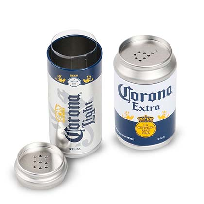 Corona Mini Can Salt And Pepper Shaker Set