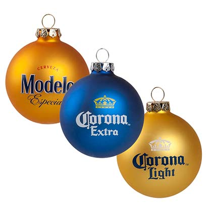 Modela And Corona Holiday Tree Ornaments