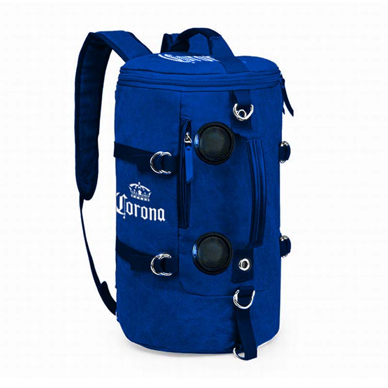 Corona Extra Blue Cooler Backpack With Bluetooth Speakers