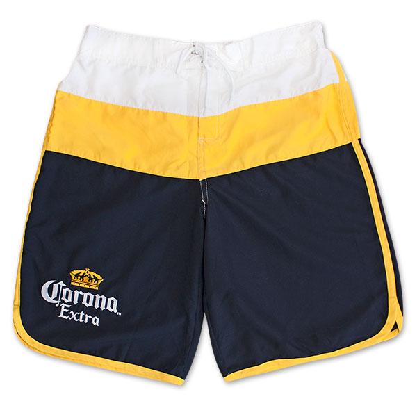 083f23c7d2 Corona Extra Men's Navy And Gold Board Shorts