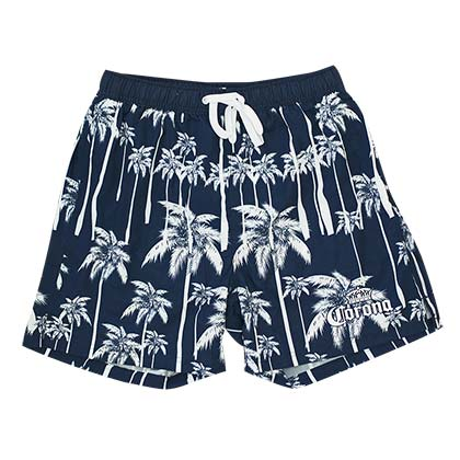 Men's Corona Beer Navy Blue Palms Board Shorts