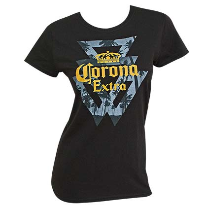 Corona Extra Triangles Logo Women's Tshirt