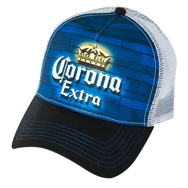 Corona Extra Blue Paneling Snapback Trucker Hat