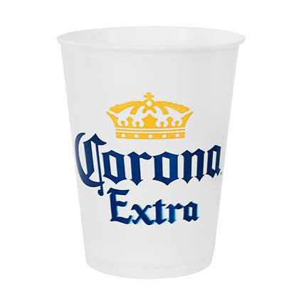 Corona Extra Sleeve Of 14 Oz Cups