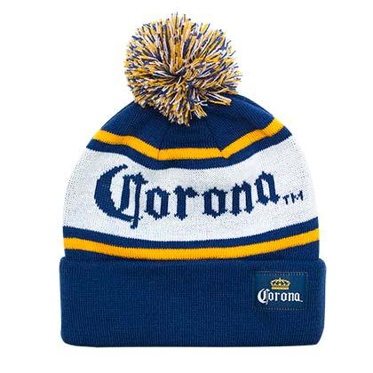 Corona Extra Logo Winter Pom Jacquard Beanie