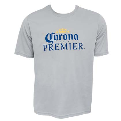Corona Premier Sportek Mesh Men's Grey Tee Shirt
