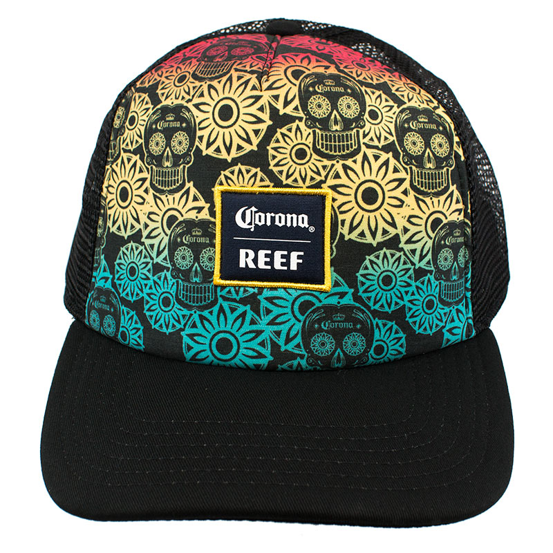 Corona Reef Rainbow Sugar Skull Trucker Hat dc8def94c8bd