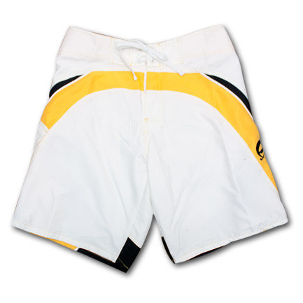 Corona White & Yellow Mens Board Shorts