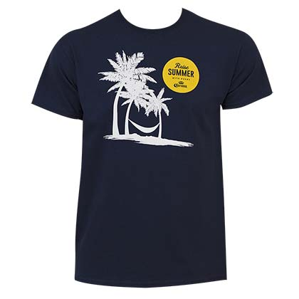 Corona Extra Men's Navy Blue Summer Logo T-Shirt