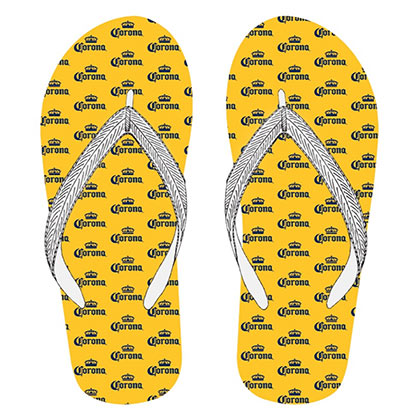 Corona Logos Yellow Men's Flip Flops