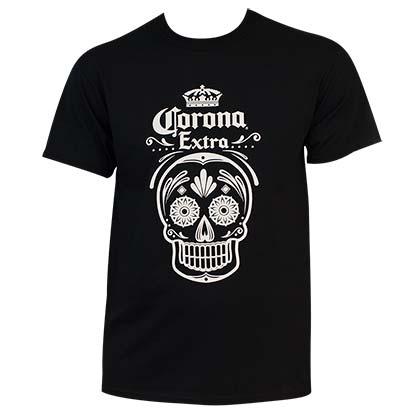 Men's Corona Dia De Los Muertos Black Tee Shirt