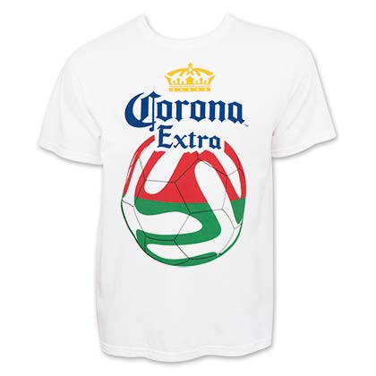 Corona Extra Soccer Red And Green Logo T-Shirt