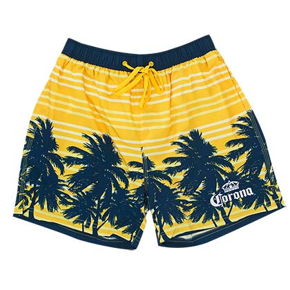 Men's Corona Beer Yellow Palms Board Shorts