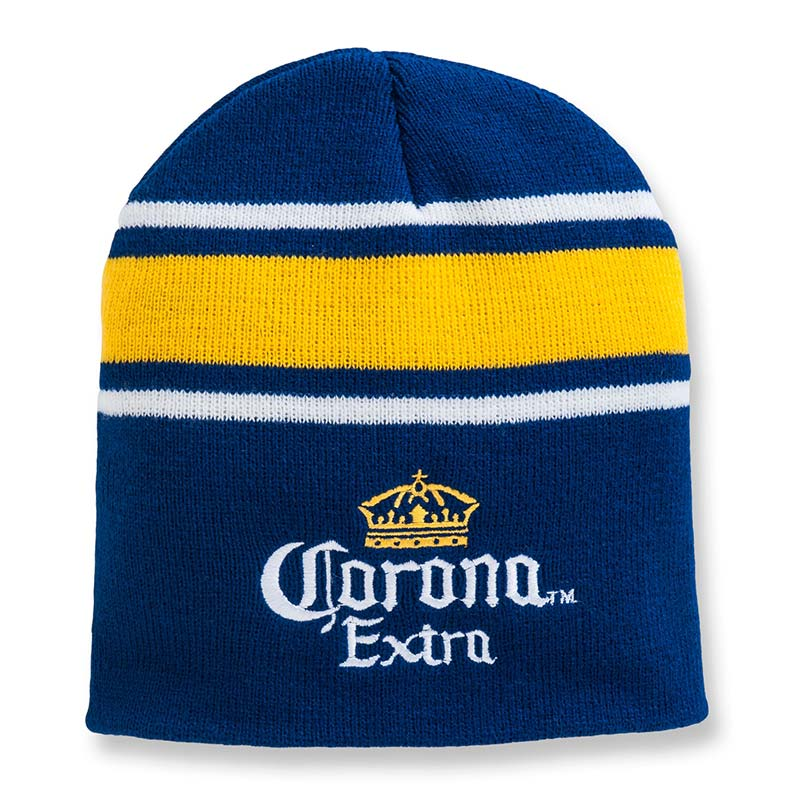 Corona Beer Striped Beanie