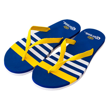 Corona Extra Striped Blue Flip Flops
