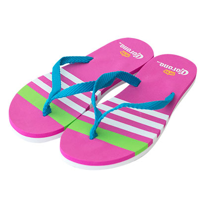 Corona Extra Striped Pink Flip Flops