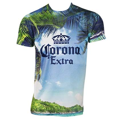 Corona Extra Beach Scene Tshirt