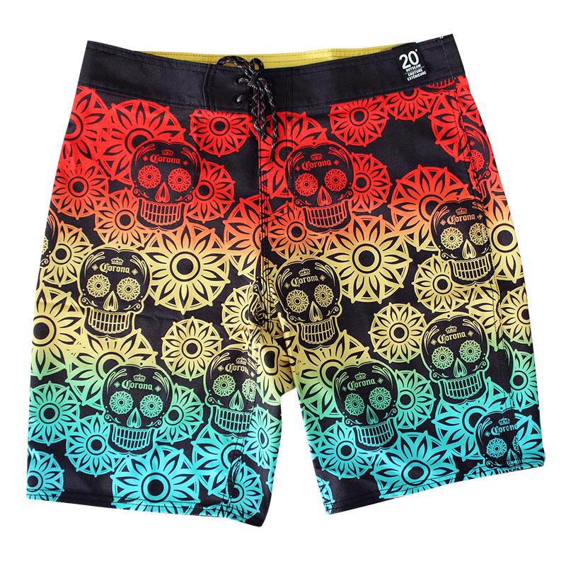 Corona Reef Rainbow Sugar Skull Men's Board Shorts