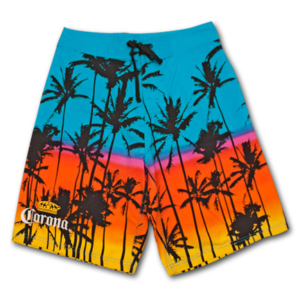 Corona Palm Trees Mens Board Shorts
