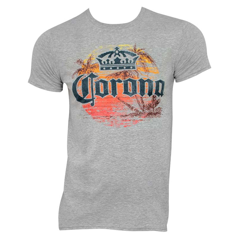 Corona Extra Men's Grey Sunset T-Shirt